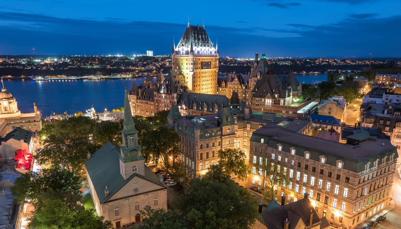 Quebec City by night