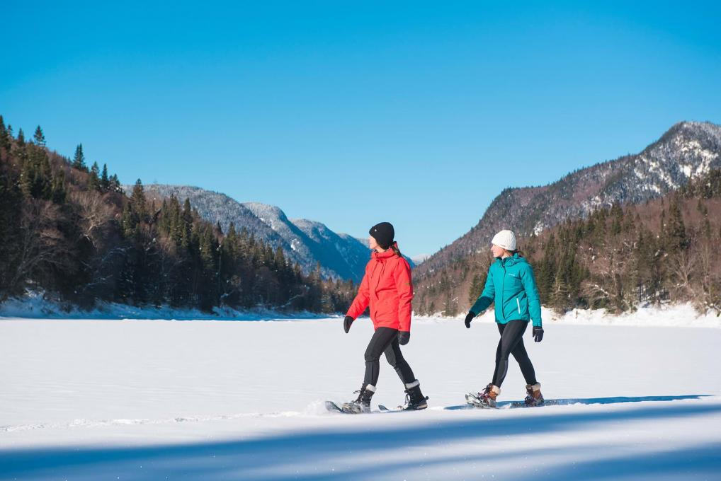 Snowshoeing at Parc national de la Jacques-Cartier