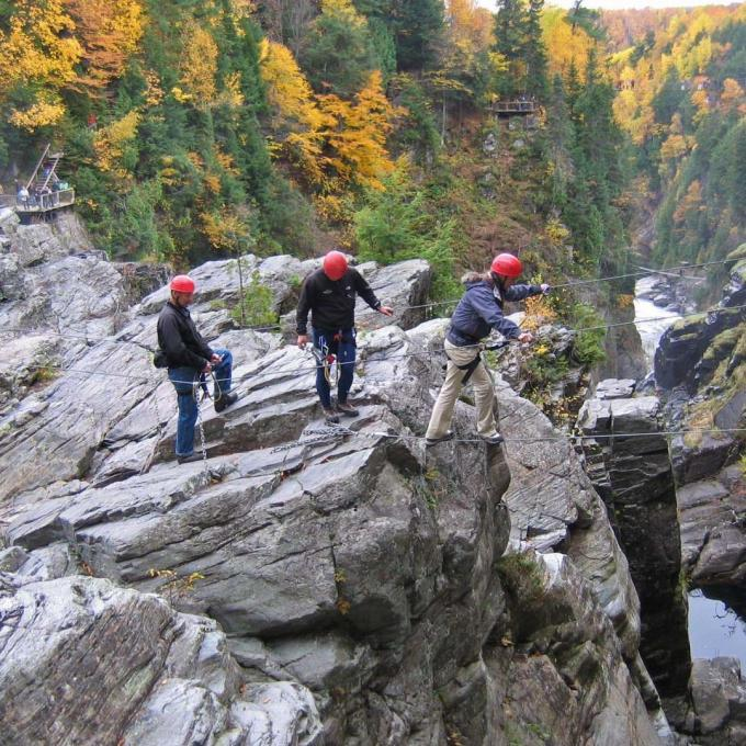 Via ferrata at Canyon Sainte-Anne