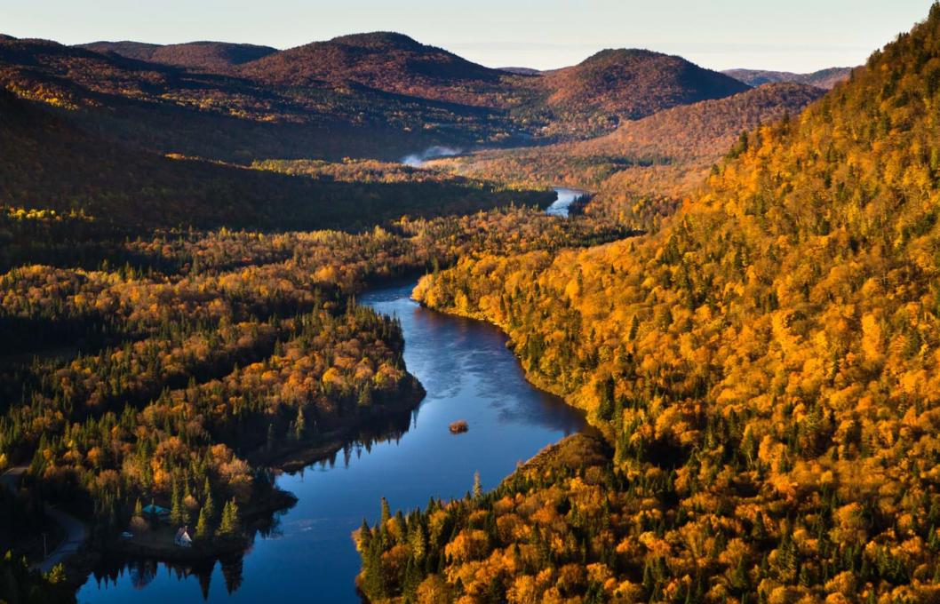 Parc national jacques cartier automne