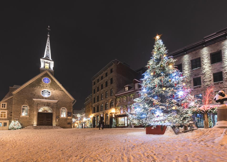 Christmas tree at Place Royale