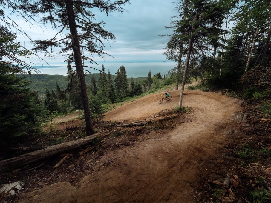 Mountain biking at Massif de Charlevoix