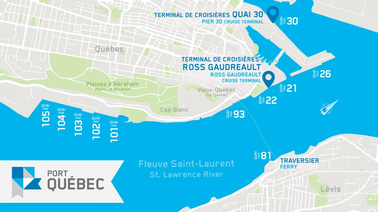 Map of the Port of Québec
