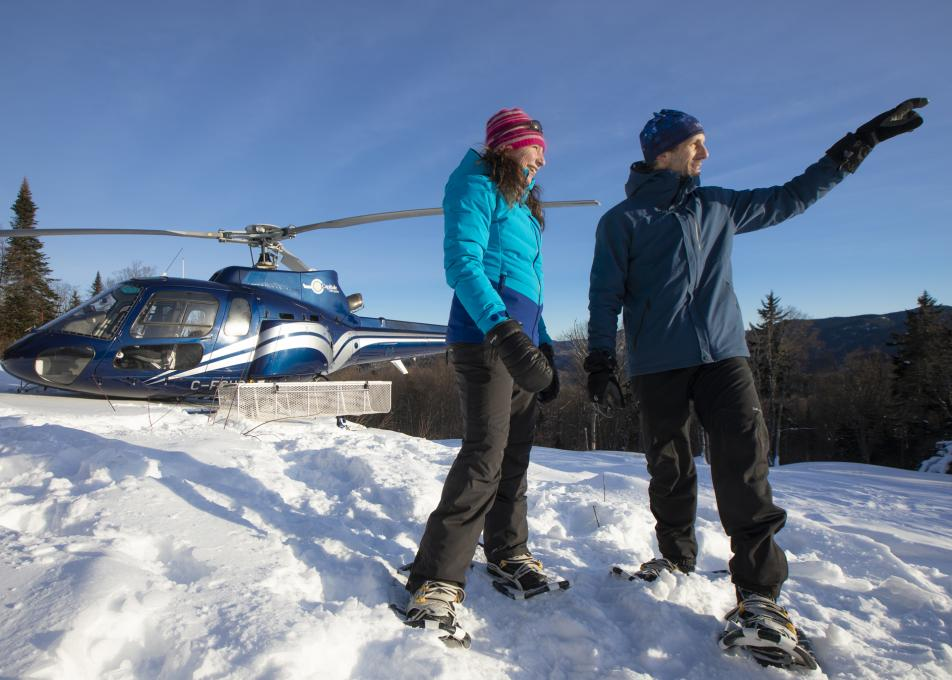 GoHelico package Snowshoeing and Helicoptering
