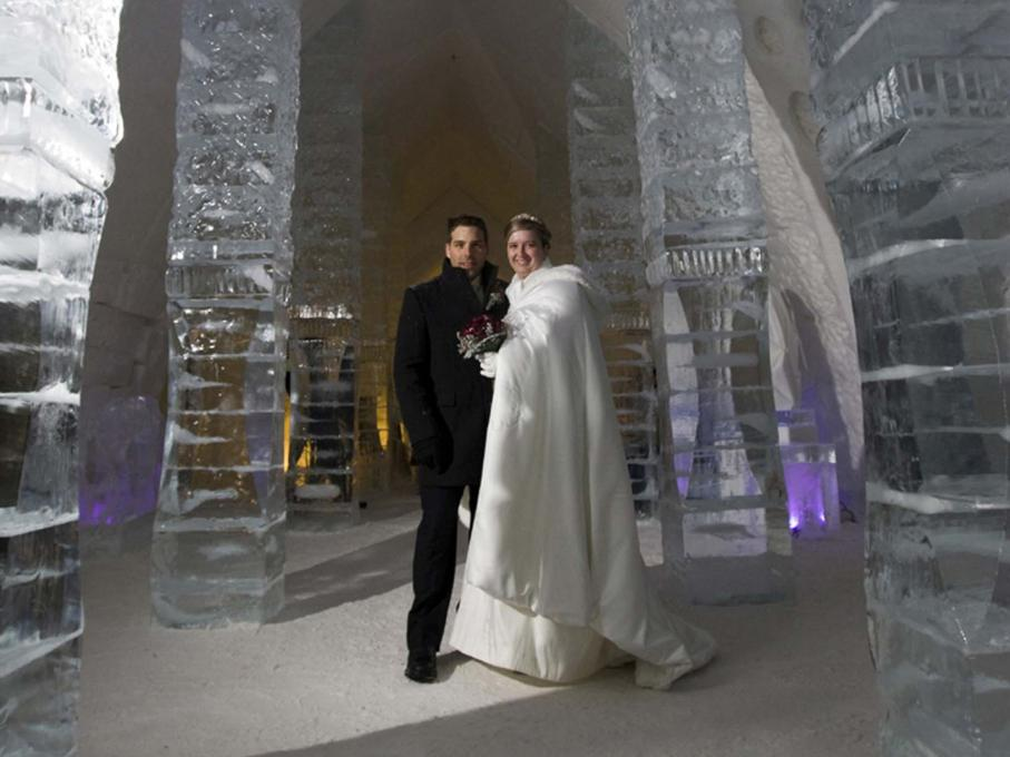 Wedding at the Ice Hotel