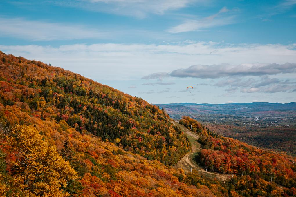 Fall foliage at Mont-Sainte-Anne