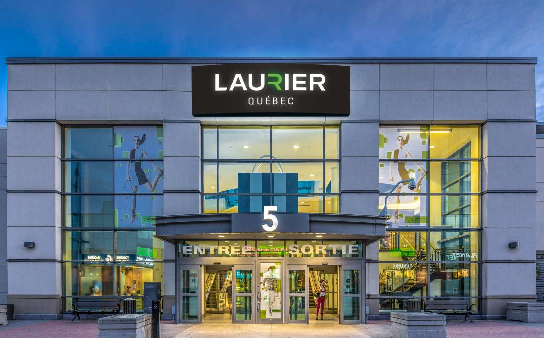 Exterior view of entrance number 5 of the Laurier Québec shopping center.