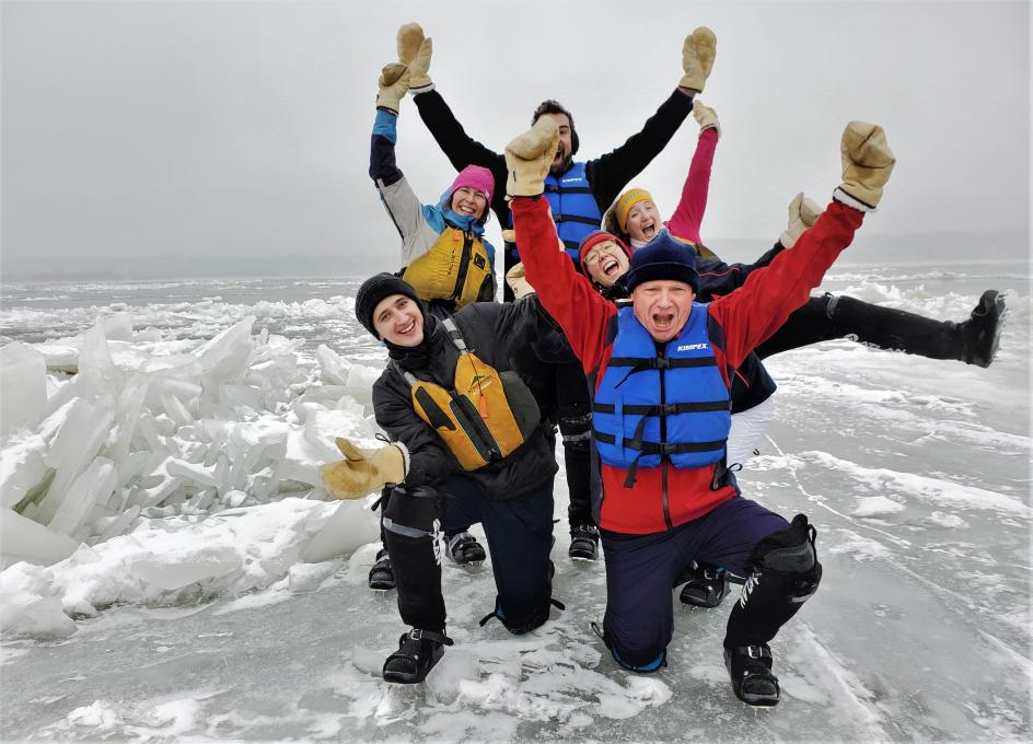 Ice Canoeing Experience - Family fun!