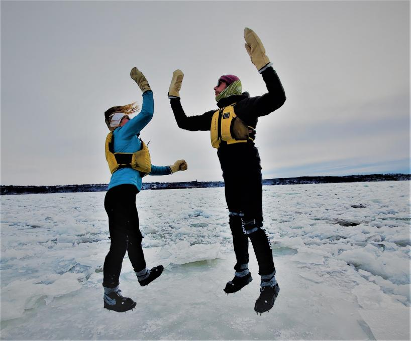 Ice Canoeing Experience - fun on the ice