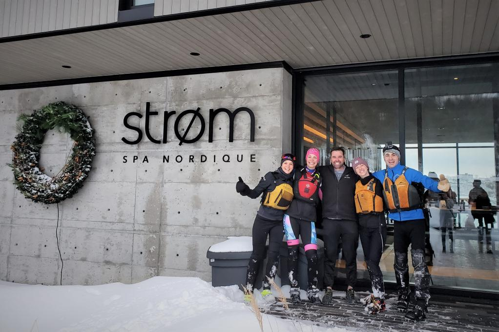 Ice Canoeing Experience - Our Canoe & Strøm Nordic spa package