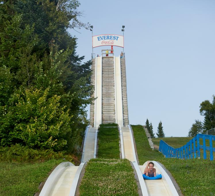 The Everest water slide at the outdoor water park of the Village Vacances Valcartier.