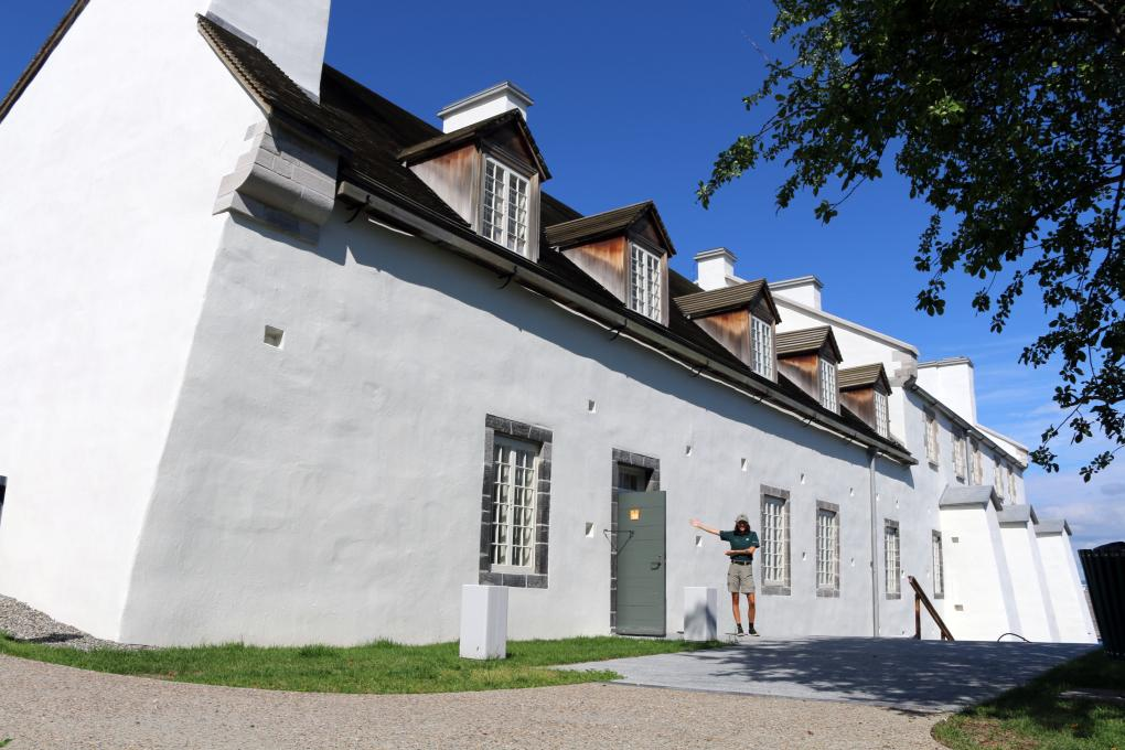 The Dauphine Redoubt, a building that is part of the Fortifications of Québec National Historic Site.