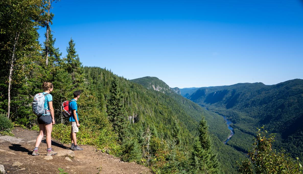 A couple hikes on the Scotora Trail in Jacques-Cartier National Park.