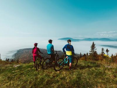 Mountain biking at Mont-Sainte-Anne
