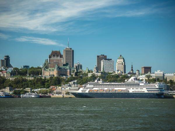 Cruise Ship in front of Old Québec