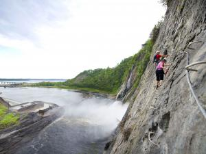 The Via Ferrata at Parc de la Chute-Montmorency.