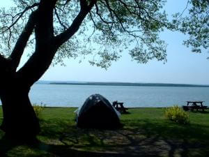 Camping Orléans - campsite with a view of the St.Lawrence River