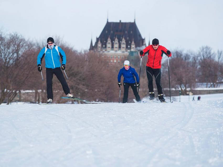 Cross-country Skiing on the Plains of Abraham