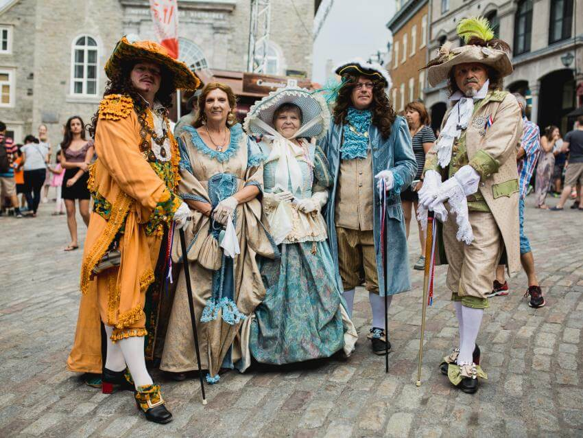 New-France Festival Characters at Place Royale