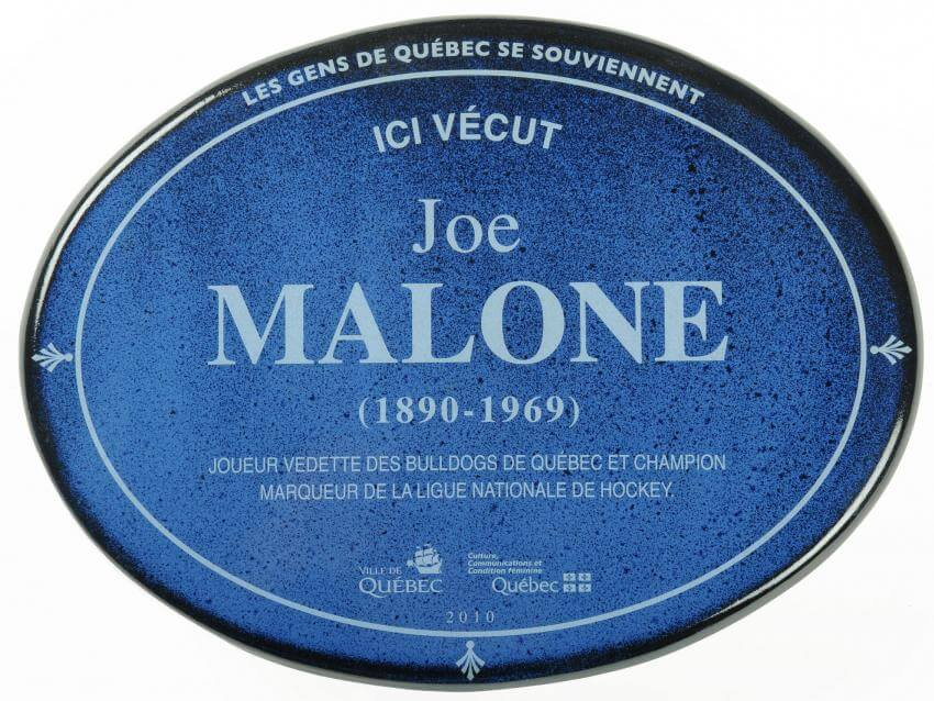 Historical plaques of Joe Malone