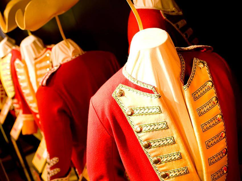 Exhibition of period costumes at the Plains of Abraham Museum.