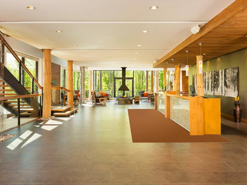 Lobby of the Hotel-Musée Premieres Nations, in Wendake, near Québec City.