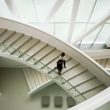 Staircase inside the Fine Art Museum in Québec City (MNBAQ)